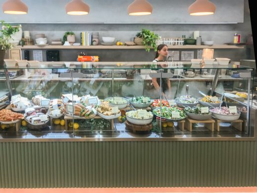 The Milk Bar Noosa QLD - Salad Counter